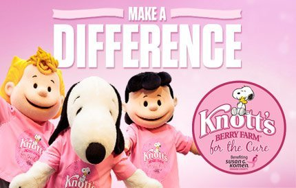 Knott's Berry Farm for the Cure benefitting Susan G. Komen #KnottsPink