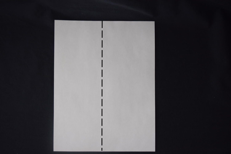 origami business card holder step 1