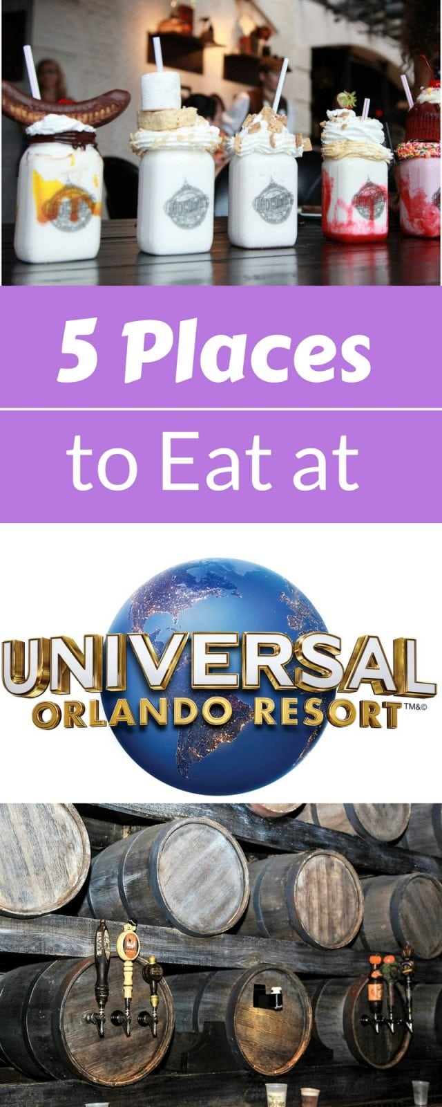 These are 5 places you are gonna wanna eat at at Unviersal Orlando Florida. Great mix of options for each budget | FaveMom and Origami Foodie