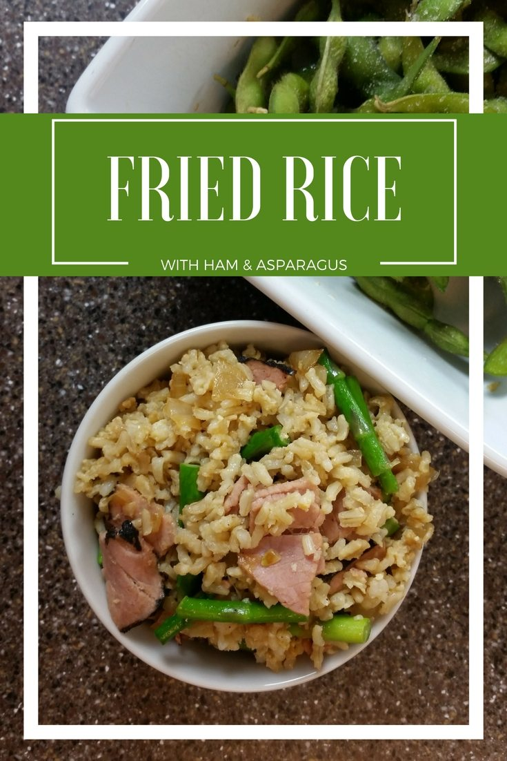 You will love this Ham and Aspargus Friec Rice Recipe. Less than 20 minutes and uses one pot. Easy Peasy | FaVe Mom