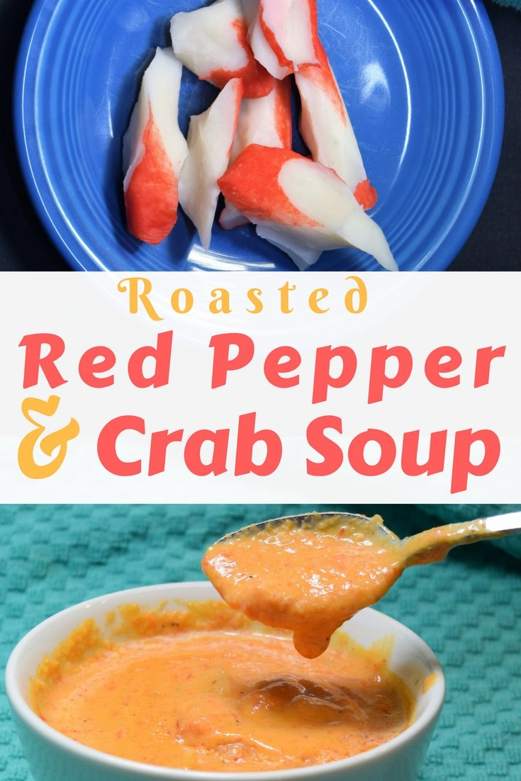 Easy homemade roasted Red Pepper and Crab Soup Recipe. Creamy and just a little spicey | FaVe Mom