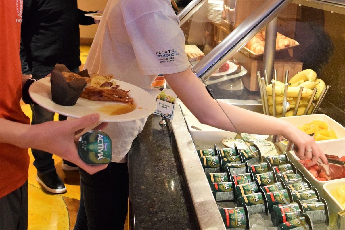 breakfast bar at Hilton City Center Salt Lake City