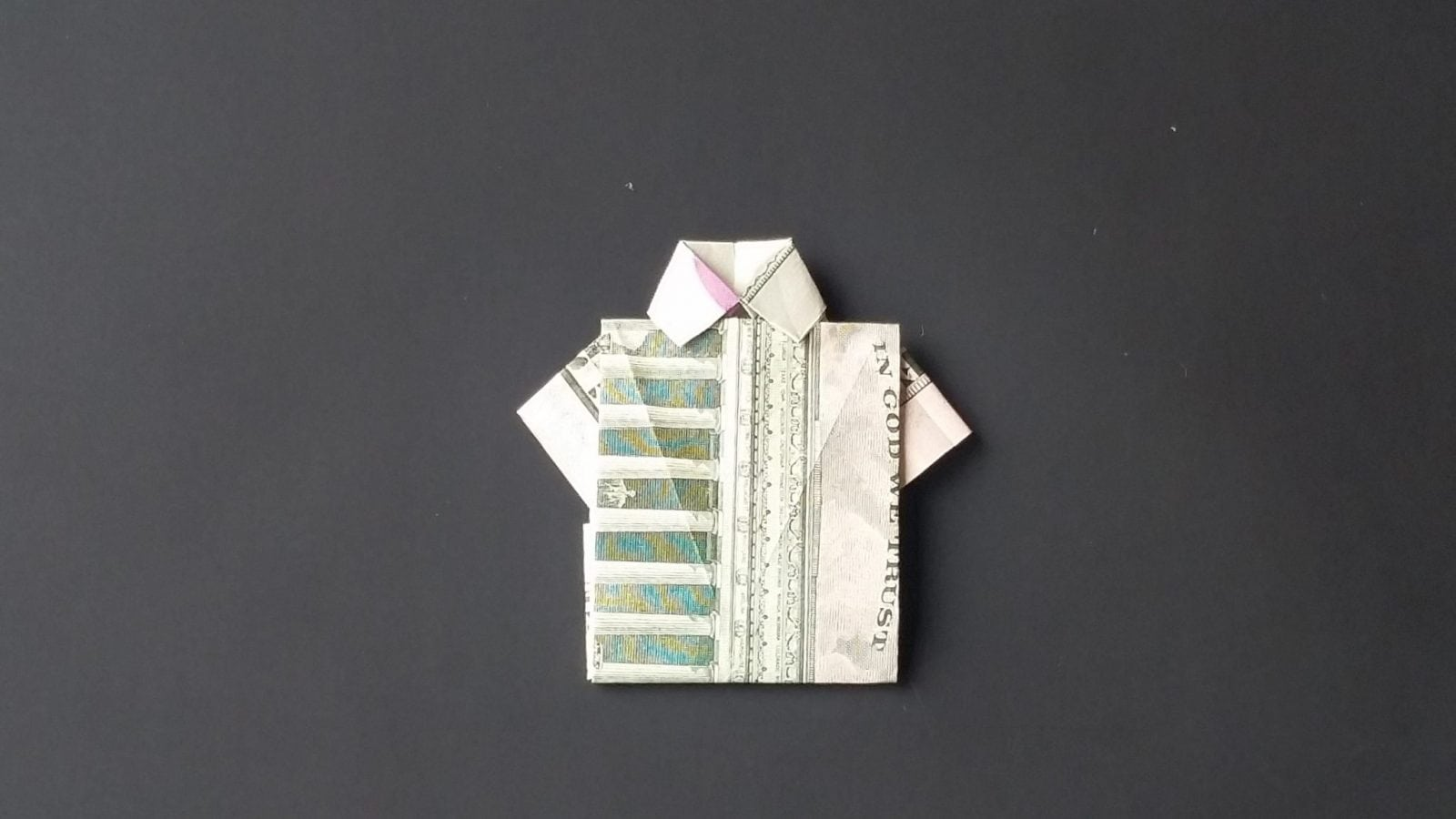Fold a money shirt with an origami dress