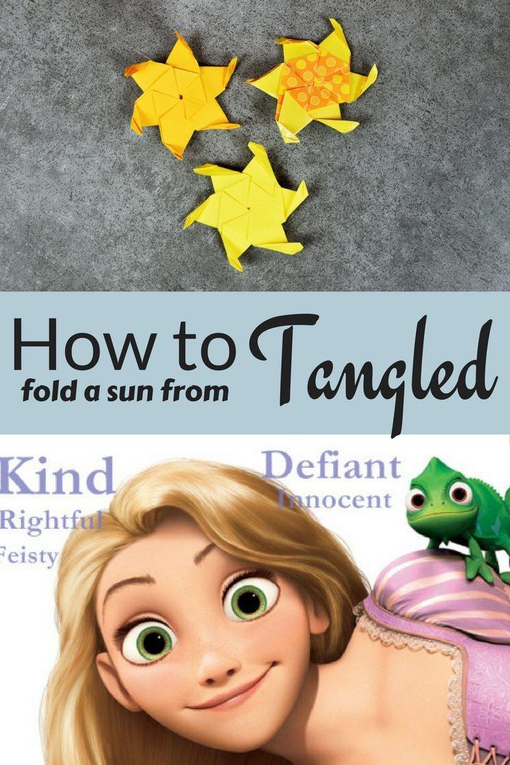 Origami Sun from Disney's Tangled