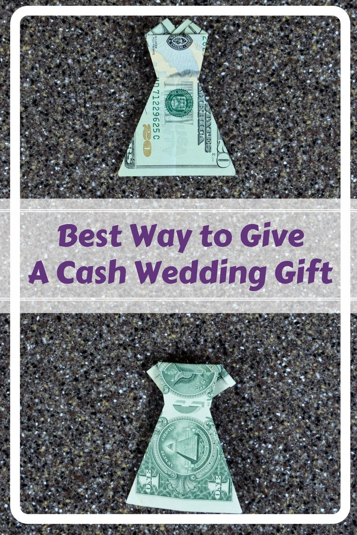 Give an easy and clever cash wedding gift by folding the money into an origami dress. Video in post with all the how to.