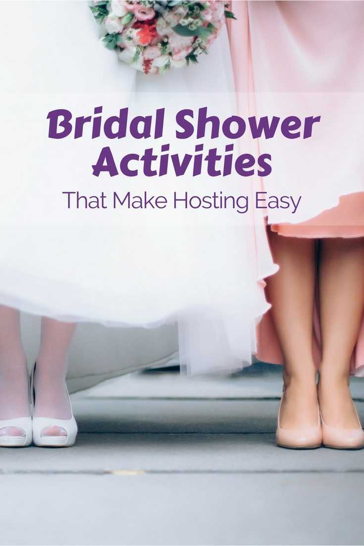 You only need 2 Bridal Shower activities when you host the party. Limiting like this makes it so easy and simple with a great result.