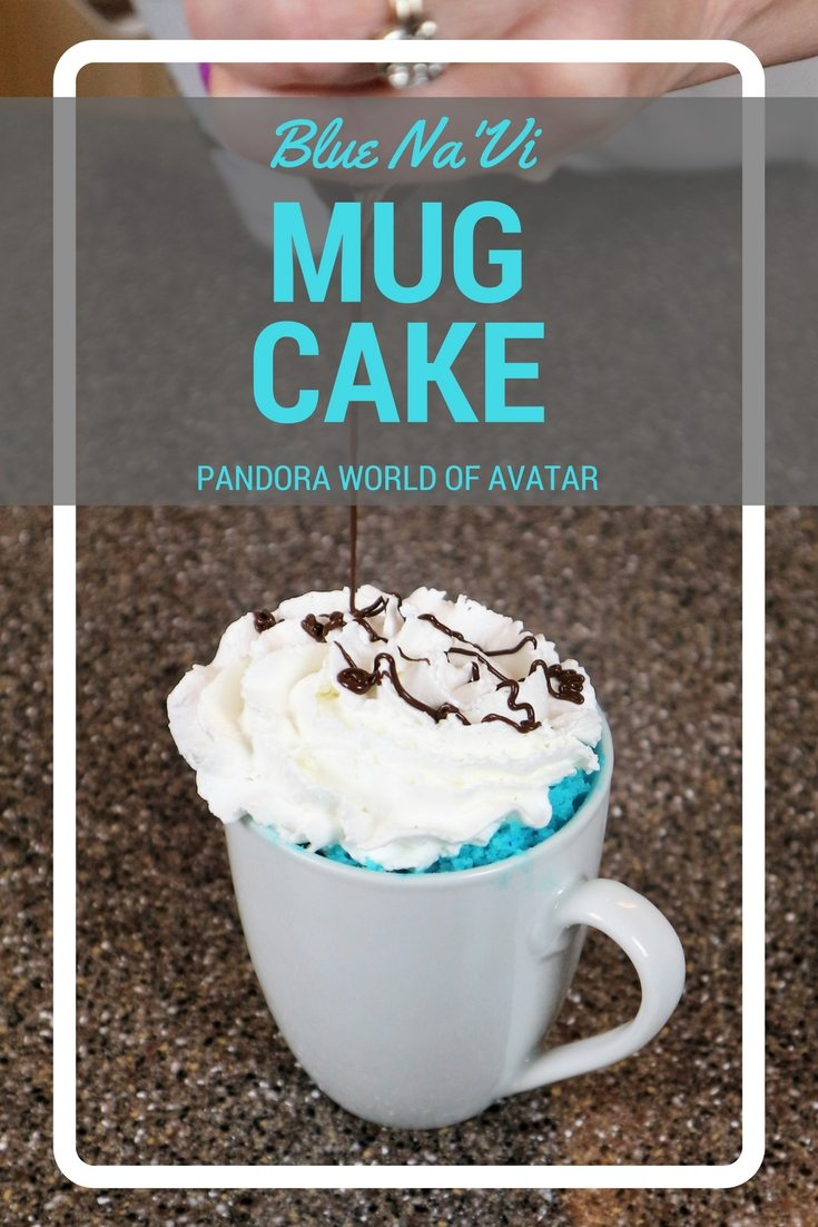 L Make the World of Avatar come home with a blue Na'vi Microwave mug cake. Only 4 ingredients, takes 2 minutes total and creates a great mix you can use the next time you crave blue food.