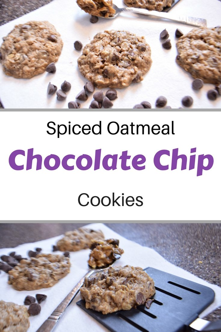 Chocoalte Chip Cookied with spice and oatmeal. So easy with a cake mix and so tasty you'll want to eat this dough. | FaveMom