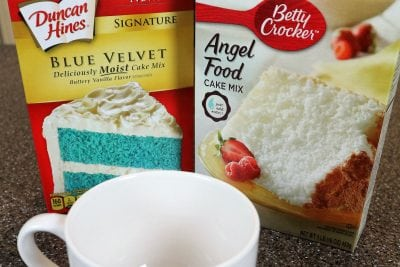 Secret to Na'Vi Blue Microwave Mug Cake is Blue Velvet Cake Mix | Fave Mom