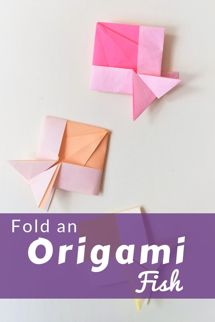 With this video tutorial you can fold an origami fish from paper.  It's eacy to fold and simple for a kids activity.  Origami Fish #origami #favemom #origamifoodie #animalorigami #kidsactivities