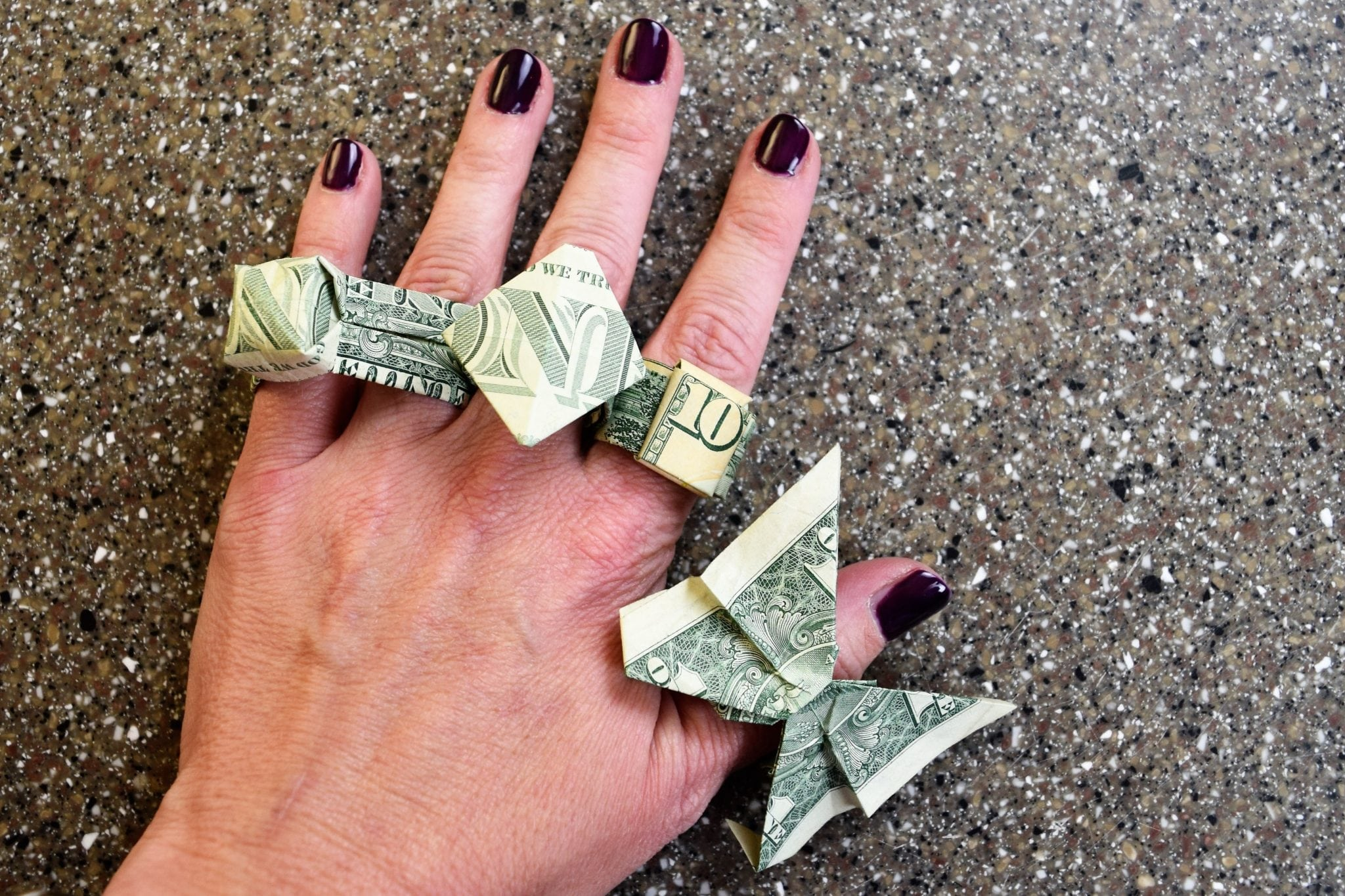 Money Origami Ring 4 Ways | Favemom.com