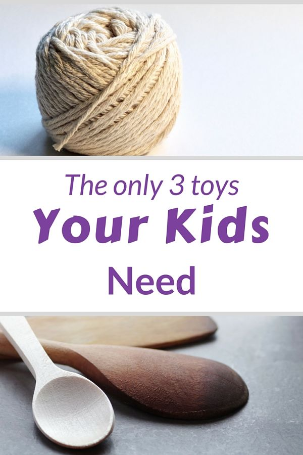 String, Wooden Spoon, the only toys your kids need plus one more #kidtoys #minimalistparenting #simplify