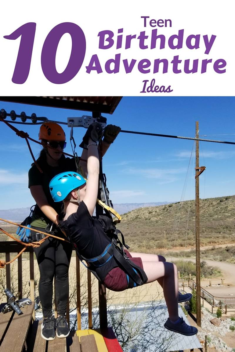 Give memories for your tween or teens birthday, but planning a birthday adventure. And get 10 great ideas for a teen birthday party experience from FaveMom.com