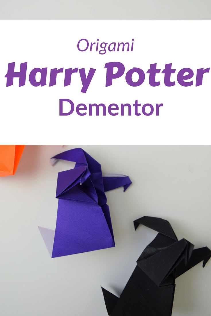 Use these video instructions to fold your own Harry Potter origami dementor on Harry's birthday or at a Harry Potter party. Or just cause. This a medium skill level origami, not easy. #origami #harrypotter #orgiamifoodie #favemom