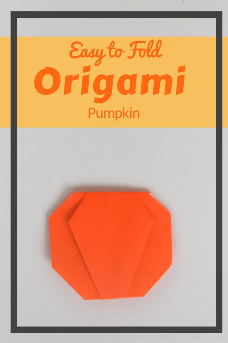 This is an easy to fold origami pumpkin. This is a great Halloween class party idea. It's simple paper crafting with a video tutorial