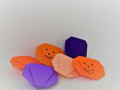 purple and orange origami pumpkins |FAvemom.com