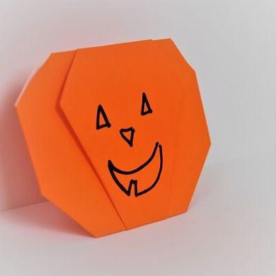 origami jack-olantern orange |Favemom.com