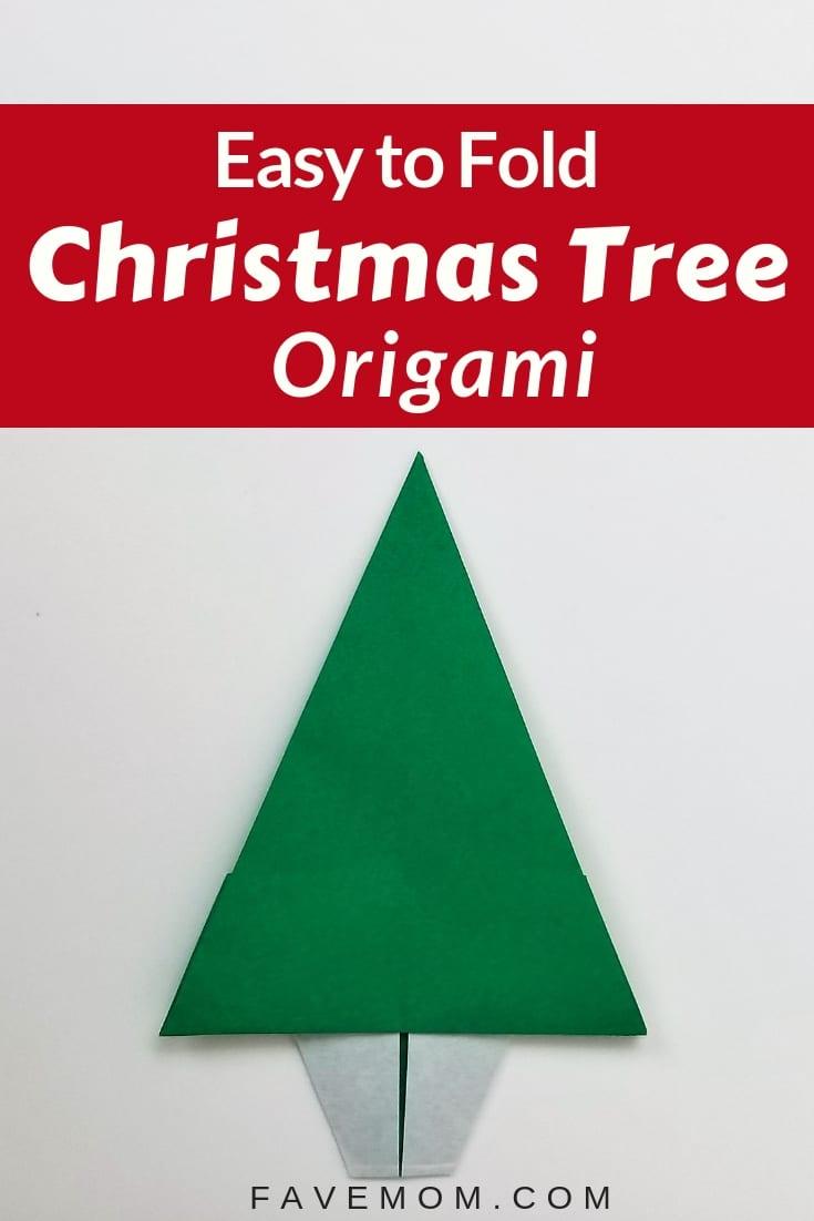 Easy foldChristmas treefromFAvemom.com #origami